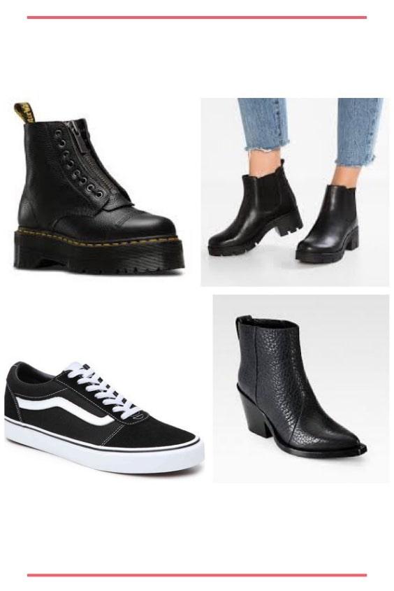 edgy look purobio scarpe