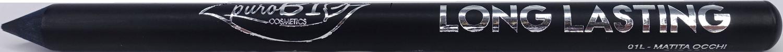 purobio cosmetics matita long lasting nero intenso