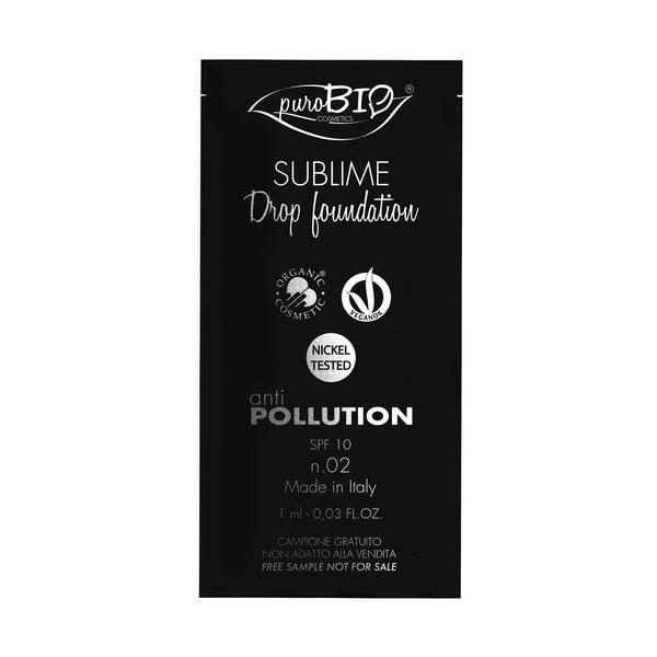 Campioncino sublime Drop Foundation n.02 puroBIO cosmetics