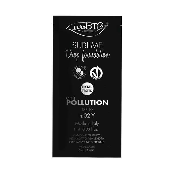 Campioncino sublime Drop Foundation n.02y puroBIO cosmetics