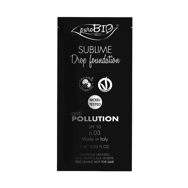 Campioncino sublime Drop Foundation n.03 puroBIO cosmetics