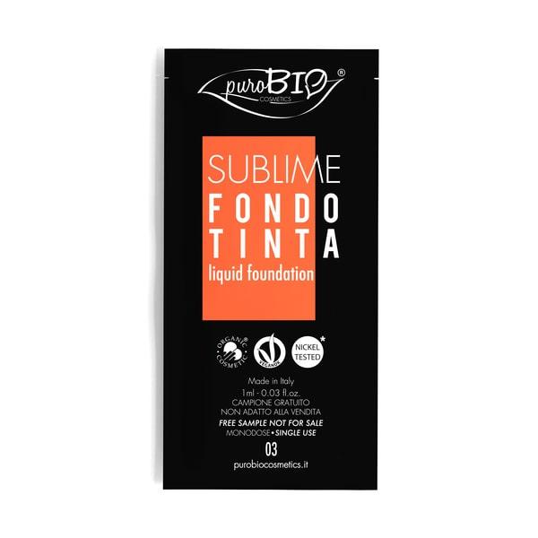 Campioncino sublime Liquid Foundation n.03 puroBIO cosmetics
