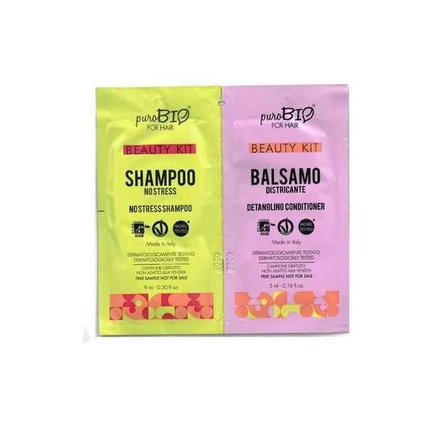 Beauty Kit Shampoo no stress e Balsamo districante puroBIO for hair