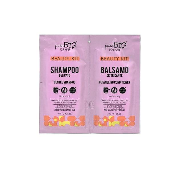 Beauty Kit Shampoo delicato e Balsamo districante puroBIO for hair
